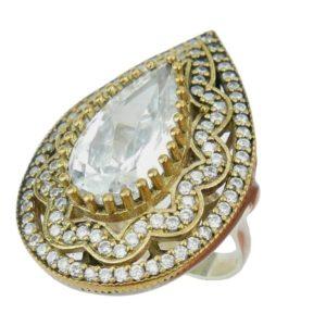 Srebrny pierścionek z topazem