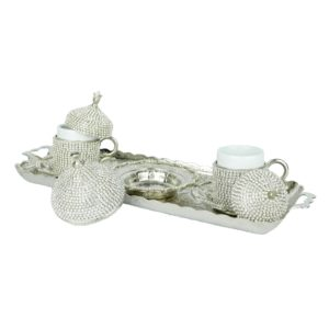 Srebrny serwis do kawy po turecku