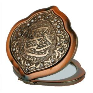 Zdobione osmańskie lusterko z cyrkoniami