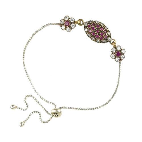 Ottomańska bransoletka z różowym topazem