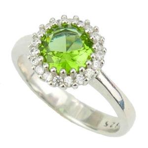 Srebrny pierścień z zultanitem -rozm. 14