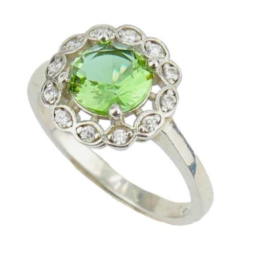 Srebrny pierścień z zultanitem -rozm. 13
