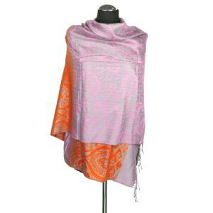 Kaszmirowy kolorowy szal