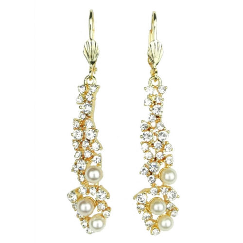 Kolczyki wiszące z perłą