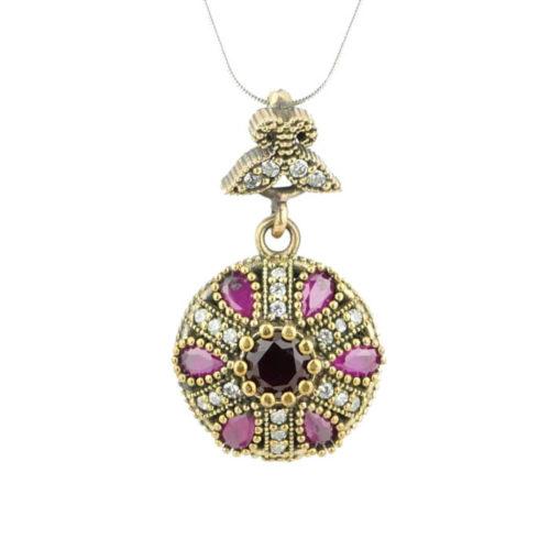 Orientalny naszyjnik z rubinem