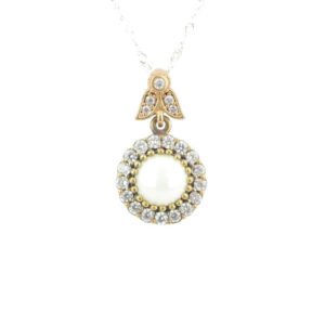 Srebrny naszyjnik z perłą