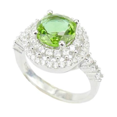 Srebrny pierścień z zultanitem