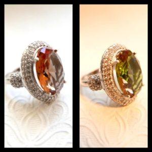 zultanit - kamień który zmienia kolor