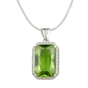 Naszyjnik srebrny - kamień zultanit