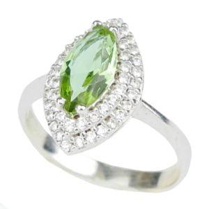 Pierścień z zultanitem - srebro