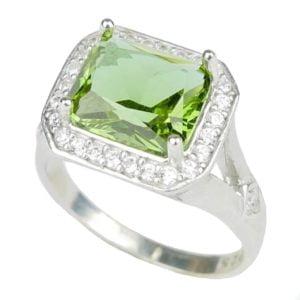 Pierścień ze srebra z zultanitem