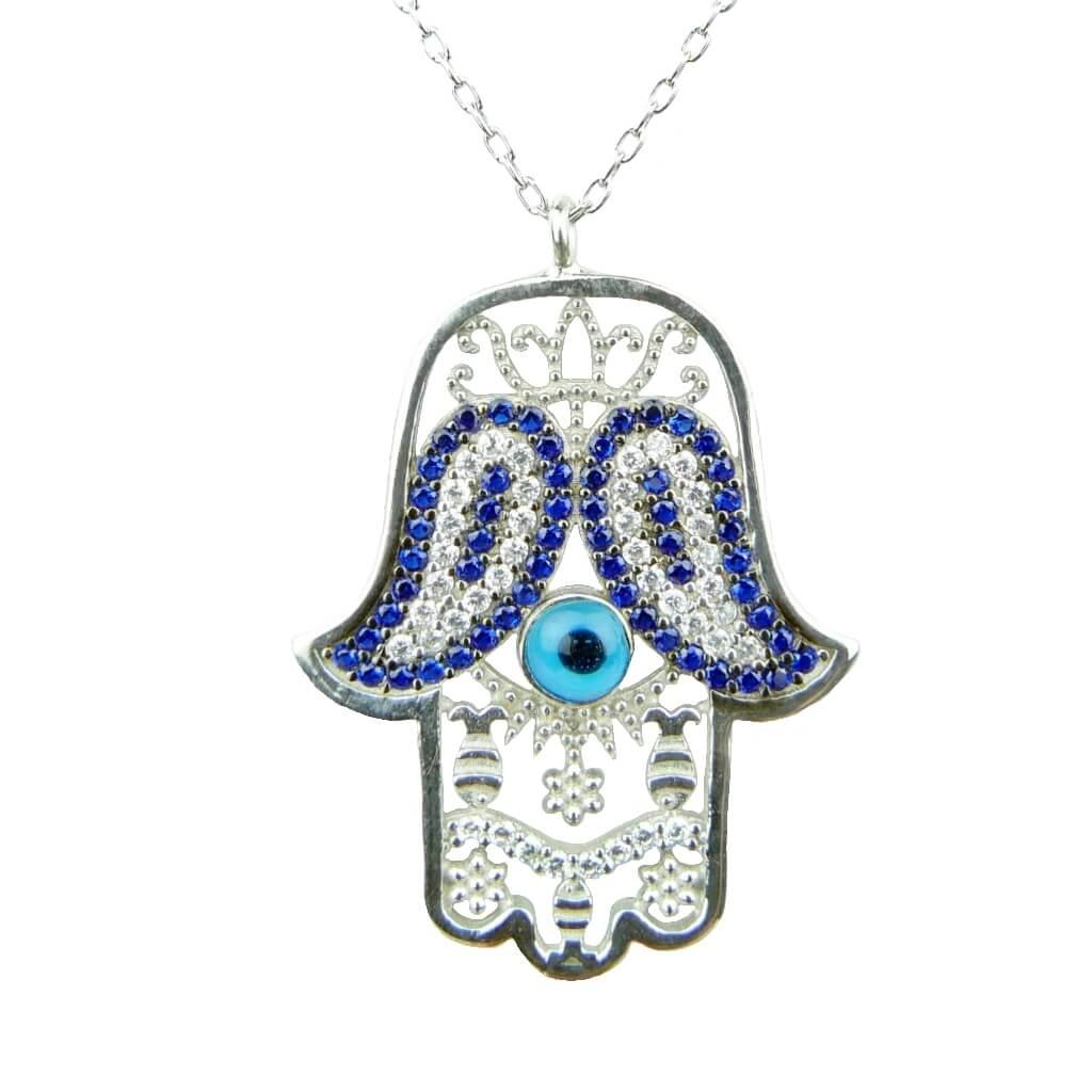 391b98697118e6 💎 Srebrny naszyjnik ręka Fatimy 💎 Ottomania - orientalna biżuteria