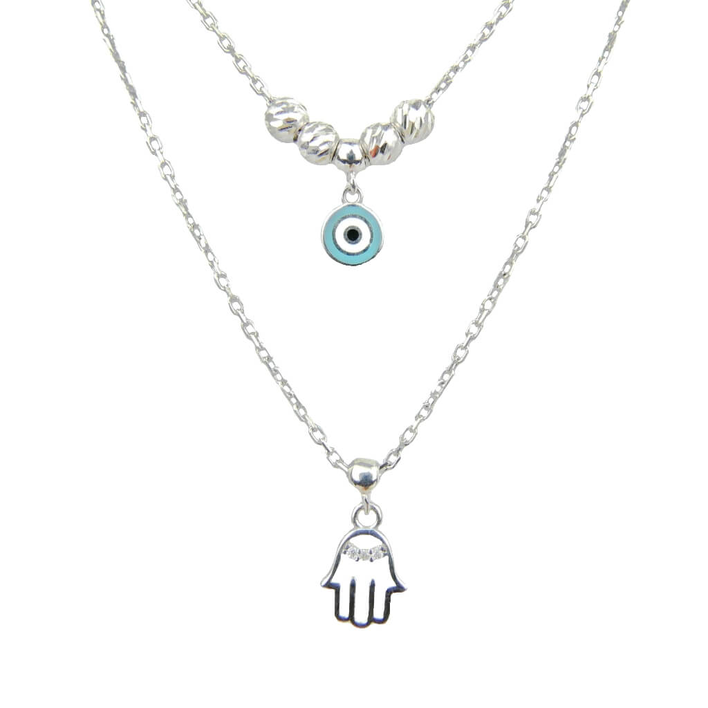 2dd3d590edcd96 💎 Srebrny podwójny naszyjnik 💎 Ottomania - orientalna biżuteria