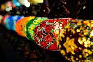 tureckie lampy mozaikowe