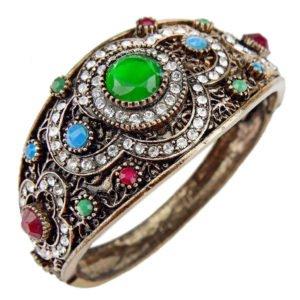Orientalna bransoletka w kolorze starego złota