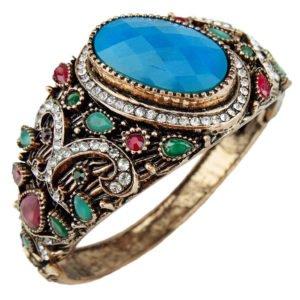 Orientalna bransoletka z niebieskim kamieniem