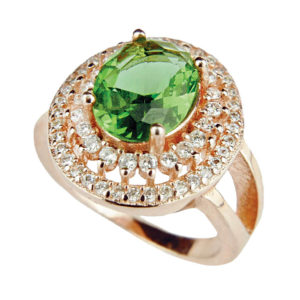 Pozłacany pierścień z Zultanitem