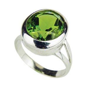 Sułtanit - owalny pierścień z Turcji
