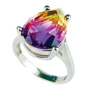 Srebrny pierścień z ametrynem