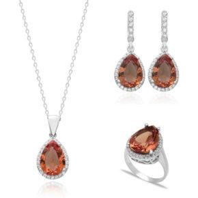 Biżuteria z zultanitem - komplet