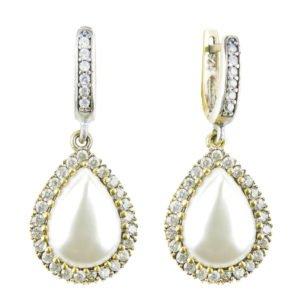 Klasyczne kolczyki Hurrem z perłami